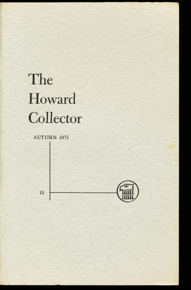 Howard Collector - #15 - Robert E. Howard - VG-FN