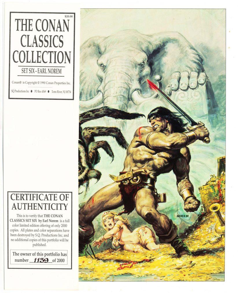 Conan Classics Collection - Set Six - [Portfolio #1139 of 2000] - FN