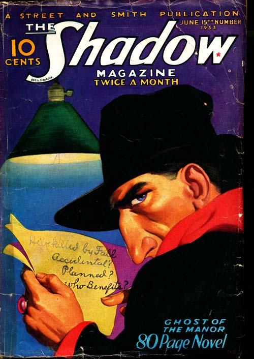 Shadow Magazine - 06/15/33 - VGOOD - ID#: 80-96257