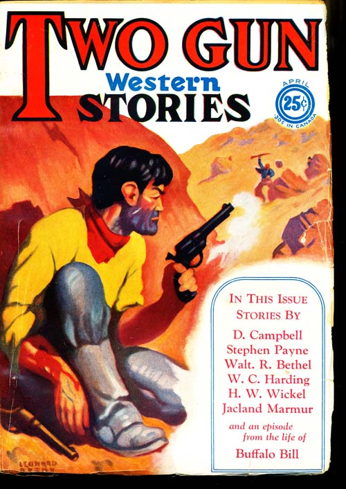 Two Gun Western Stories - 04/29 - VGOOD + - ID#: 80-97037