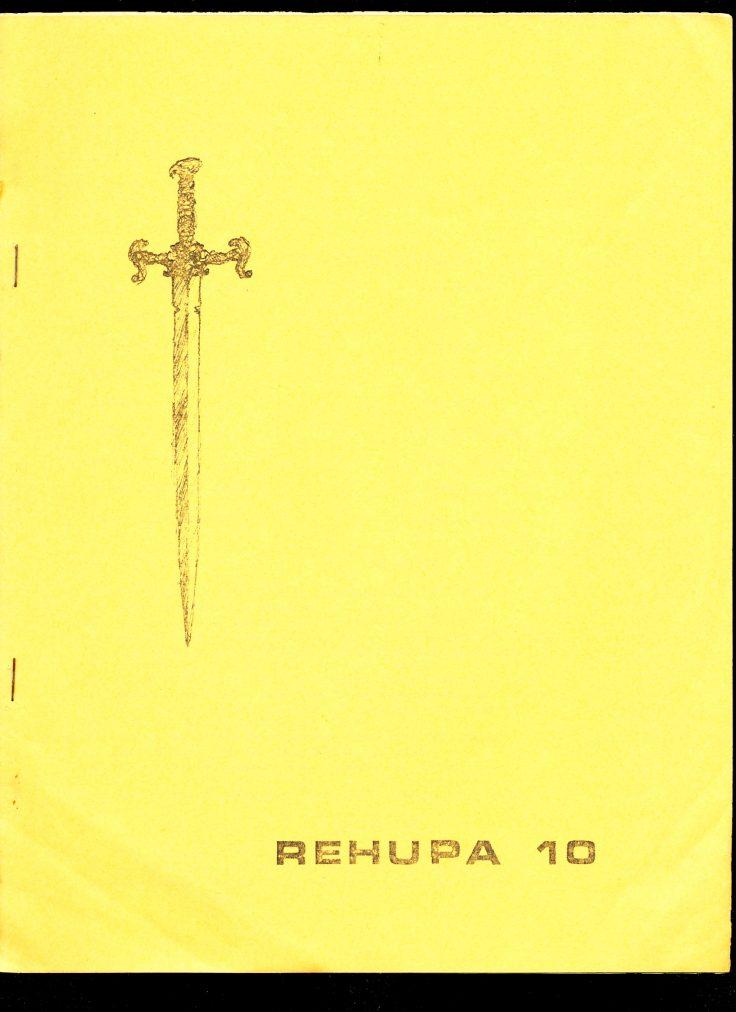 Rehupa 10 - 07/74 - VG - Robert E. Howard Fanzine