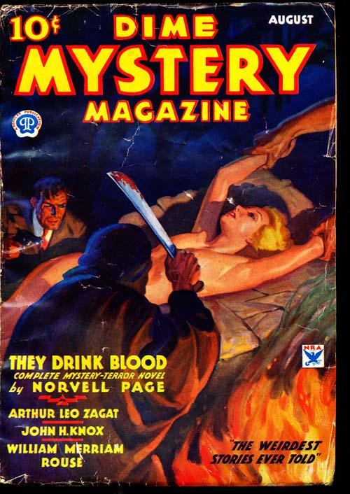 Dime Mystery Magazine - 08/34 - VGOOD + - ID#: 80-94865