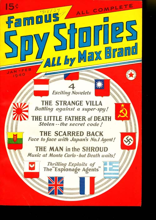 Famous Spy Stories - 01-02/40 - FINE + - ID#: 80-95284