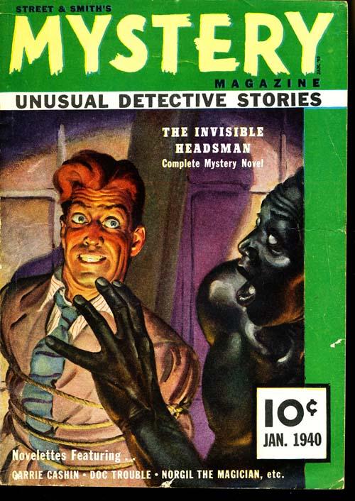 Street & Smith's Mystery Magazine - 01/40 - VGOOD + - ID#: 80-95791