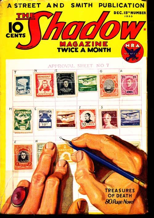Shadow Magazine - 12/15/33 - VGOOD - ID#: 80-96266