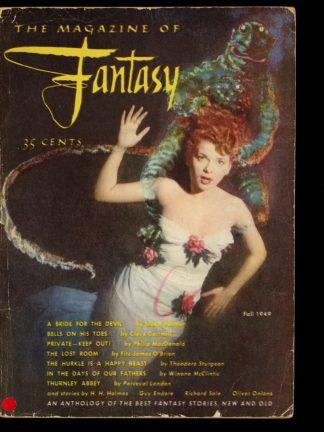 MAGAZINE OF FANTASY - FALL/49 - FALL/49 - G-VG - Fantasy House
