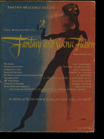 FANTASY AND SCIENCE FICTION - WTR/SPRNG/50 - WTR/SPRNG/50 - VG - Fantasy House