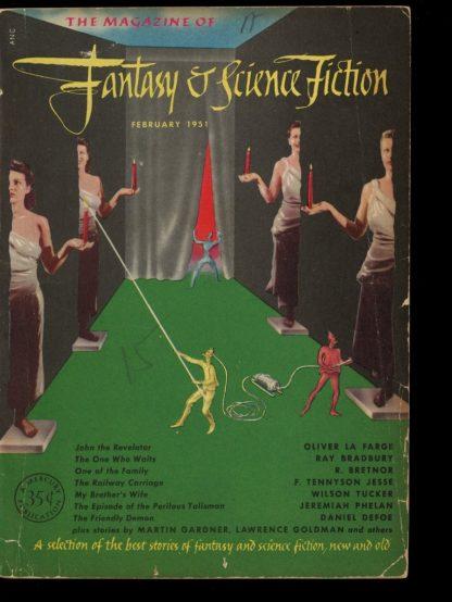 FANTASY AND SCIENCE FICTION - 02/51 - 02/51 - VG - Fantasy House