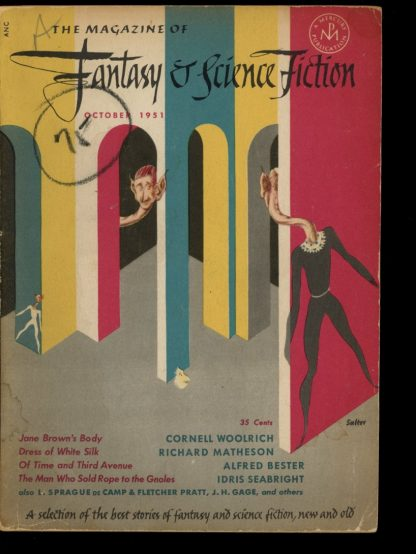 FANTASY AND SCIENCE FICTION - 10/51 - 10/51 - G-VG - Fantasy House