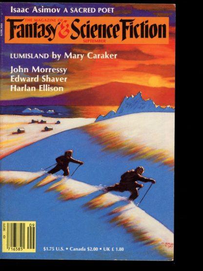 FANTASY & SCIENCE FICTION - 09/87 - 09/87 - VG - Mercury Press
