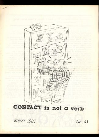 CONTACT IS NOT A VERB - #41 - 03/87 - VG-FN - Robert E. Briney