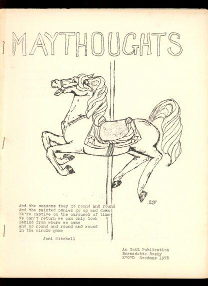 Maythoughts - ROODMAS/78 - ROODMAS/78 - VG-FN - Bernadette Bosky