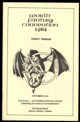 1984 World Fantasy Convention - POCKET PROGRAM - 10/84 - VG-FN - World Fantasy Convention
