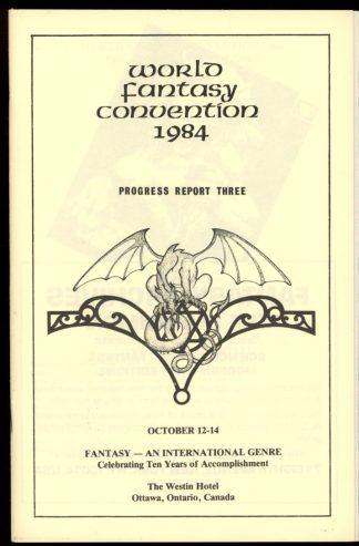 1984 World Fantasy Convention - PROGRESS REPORT #3 - 10/84 - VG-FN - World Fantasy Convention