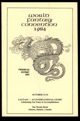 1984 World Fantasy Convention - PROGRESS REPORT #1 - 10/84 - VG-FN - World Fantasy Convention