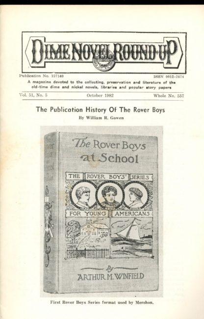 Dime Novel Roundup - #557 - 10/82 - FN - Edward T. LeBlanc