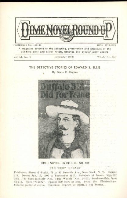 Dime Novel Roundup - #558 - 12/82 - FN - Edward T. LeBlanc