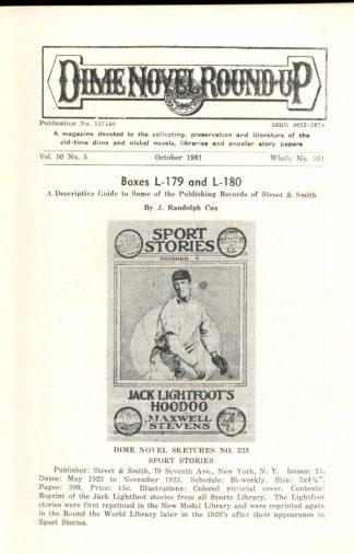 Dime Novel Roundup - #551 - 10/81 - FN - Edward T. LeBlanc