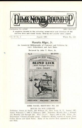 Dime Novel Roundup - #550 - 08/81 - FN - Edward T. LeBlanc