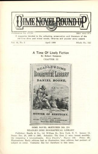 Dime Novel Roundup - #542 - 04/80 - FN - Edward T. LeBlanc
