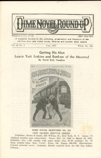 Dime Novel Roundup - #585 - 06/87 - FN - Edward T. LeBlanc