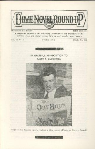 Dime Novel Roundup - #569 - 10/84 - FN - Edward T. LeBlanc
