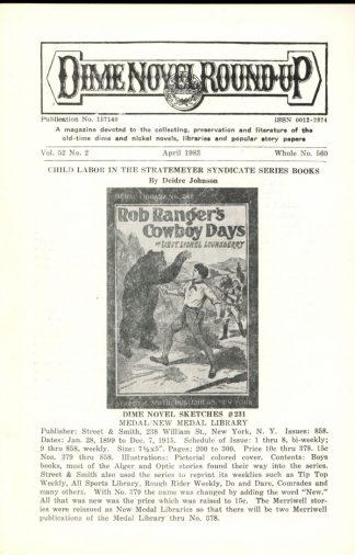 Dime Novel Roundup - #560 - 04/83 - FN - Edward T. LeBlanc