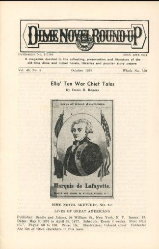Dime Novel Roundup - #539 - 10/79 - FN - Edward T. LeBlanc