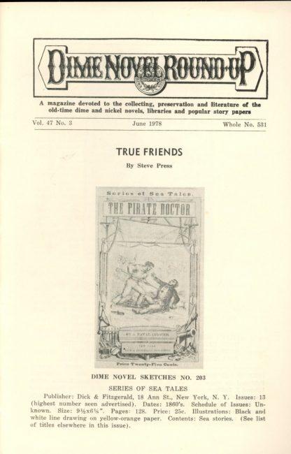 Dime Novel Roundup - #531 - 06/78 - FN - Edward T. LeBlanc