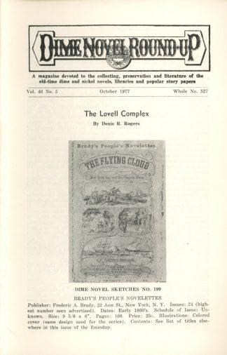 Dime Novel Roundup - #527 - 10/77 - FN - Edward T. LeBlanc