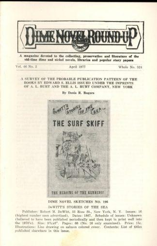 Dime Novel Roundup - #524 - 04/77 - FN - Edward T. LeBlanc