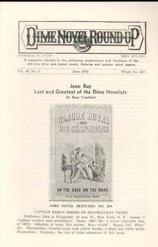 Dime Novel Roundup - #537 - 06/79 - FN - Edward T. LeBlanc