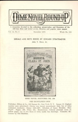 Dime Novel Roundup - #516 - 12/75 - FN - Edward T. LeBlanc