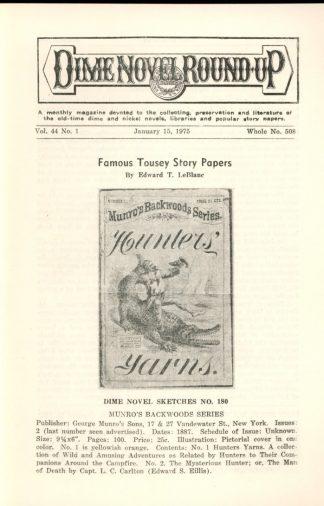 Dime Novel Roundup - #508 - 01/15/75 - FN - Edward T. LeBlanc