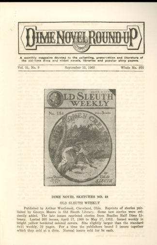 Dime Novel Roundup - #372 - 09/15/63 - FN - Edward T. LeBlanc