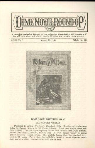 Dime Novel Roundup - #371 - 08/15/63 - FN - Edward T. LeBlanc