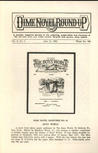 Dime Novel Roundup - #369 - 06/15/63 - FN - Edward T. LeBlanc