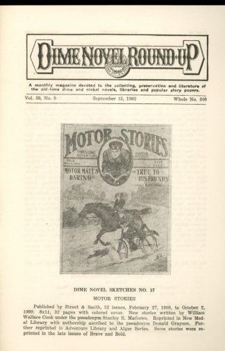 Dime Novel Roundup - #360 - 09/15/62 - FN - Edward T. LeBlanc