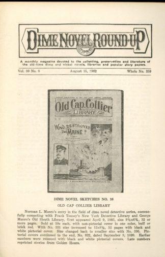 Dime Novel Roundup - #359 - 08/15/62 - FN - Edward T. LeBlanc