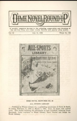 Dime Novel Roundup - #358 - 07/15/62 - FN - Edward T. LeBlanc