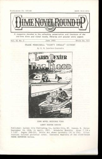 Dime Novel Roundup - #621 - 06/93 - FN - Edward T. LeBlanc