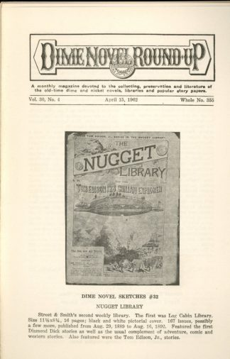 Dime Novel Roundup - #355 - 04/15/62 - FN - Edward T. LeBlanc