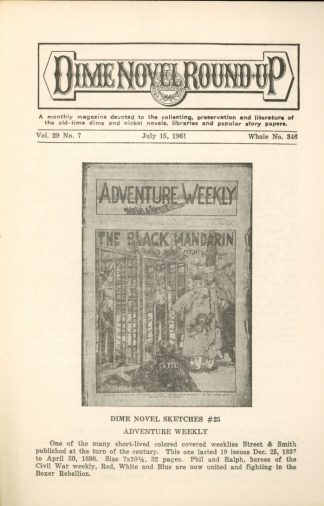 Dime Novel Roundup - #346 - 07/15/61 - FN - Edward T. LeBlanc