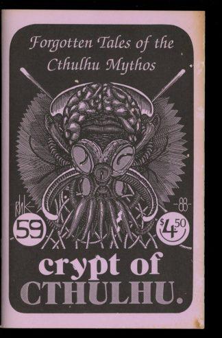 Crypt Of Cthulhu - #59 - 09/88 - G-VG - Robert Price