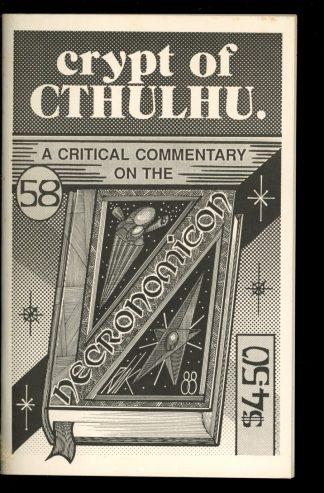 Crypt Of Cthulhu - #58 - 08/88 - VG-FN - Robert Price