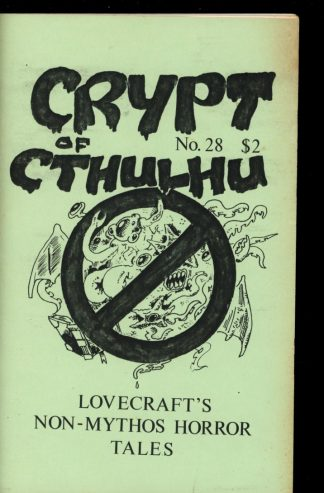 Crypt Of Cthulhu - #28 - 12/84 - VG-FN - Robert Price
