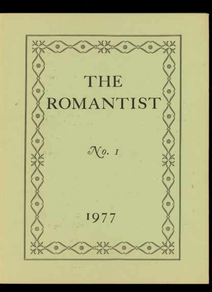 Romantist - #151 OF 300 COPIES - -/77 - VG-FN - F. Marion Crawford Memorial Society