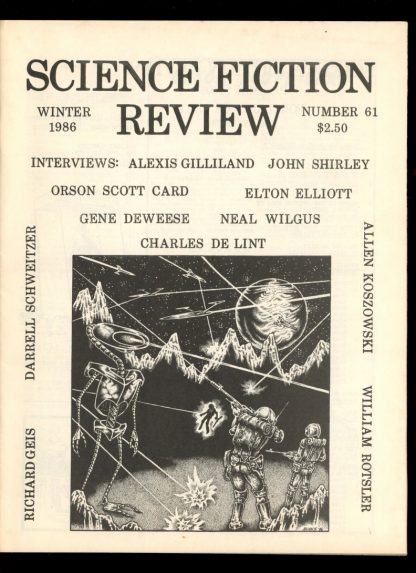 Science Fiction Review - #61 - WINTER/86 - FN - Richard E. Geis