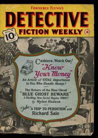 Detective Fiction Weekly - 11/16/40 - 11/16/40 - VG - Munsey
