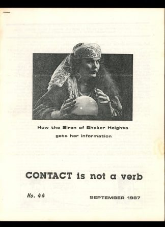 Contact Is Not A Verb - #44 - 09/87 - VG-FN - EOD